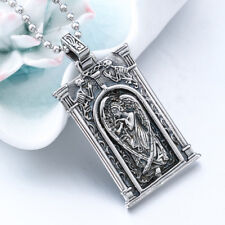 Silver Archangel St.Michael Saint Cross Shield Russian Orthodox Pendant