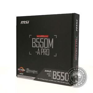 OPEN BOX MSI B550M-A PRO ProSeries AM4 / SATA 6Gb/s Micro-ATX Motherboard