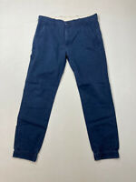 LEVI'S CUFFED CHINO TROUSERS - W32 L32 - Navy - Great Condition - Men's