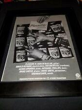 Pleasure Accept No Substitutes Rare Original Promo Poster Ad Framed!