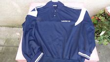 sweat shirt Adidas ventex vintage L bleu marine et blanc