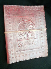 ALBERO DELLA VITA WICCA pagane pelle a mano altare BOOK book-of-shadows Grimoire