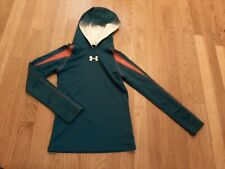 Boys Under Armour Blue hooded Hoodie Pullover  ColdGear, Size YSM Small