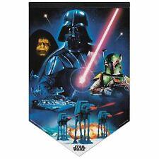 """Star Wars Empire Darth Vader Boba Fett 17"""" X 26"""" Premium Felt Banner Wall Hang"""