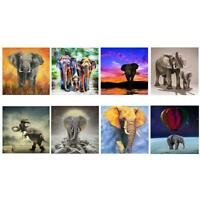 5D DIY Full Drill Diamond Painting Elephant Cross Stitch Mosaic Craft Kits