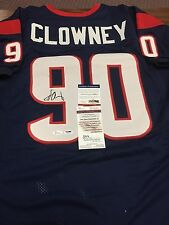 JADEVEON CLOWNEY Autographed Houston Texans Football Jersey PSA/DNA JSA COA