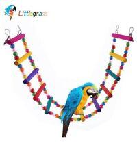 Littlegrass 12 Steps Bird Toys 31in Wood Bird Ladder, Step Parrot Ladder Swing