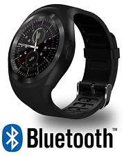Smartwatch Y1 Android IOS Orologio Bluetooth Smart Watch Micro SD Sim Nero