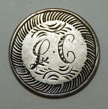 "Love Token Engraved with Initials ""LC"" on a 1855 Seated Liberty Dime"