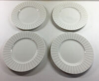 4 MIKASA Cheers Diamond Fine China HK278 Salad White Silver Plates 8.5""