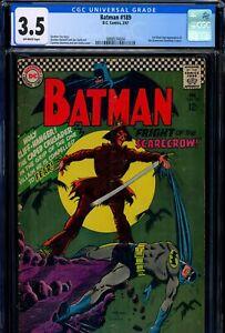 CGC 3.5 Batman #189 D.C. Comics 1967 1st Silver Age Scarecrow (Johnathan Crane)