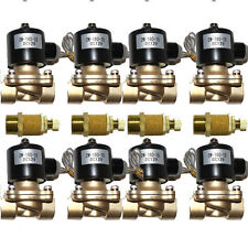 "8 Air Suspension Valves 1/2""npt 12V Brass w/ Slow Down Air Ride System Parts"