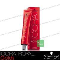 Schwarzkopf Professional IGORA ROYAL Permanent Colour Hair Dye 60ml Golds