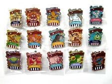 Disney Pin-HKDL Popcorn & Pretzel Mystery Pin Collection 2017 (Complete 15 pins)