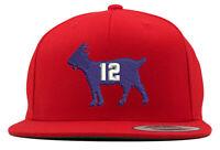 New England Patriots Tom Brady Goat Embroidered Snapback Hat