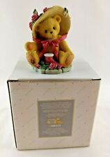 Cherished Teddies Figurine Enesco for Avon Your Sweet As A Rose 1997 Janet w/Box