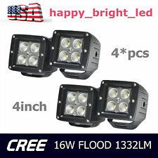 """4X 3""""Inch 16W CREE LED Work Light Cube Pods Driving Work Fog Flood Light Offroad"""