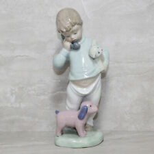 Lladro Nao Figurine 1044 no box Boy on Phone with Puppets