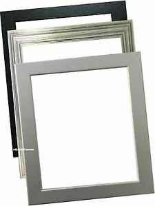 Photo Frames Picture Frames Poster frames Black Pewter Silver In Various Sizes
