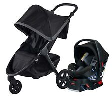 Britax B-Free Travel System Stroller with B-Safe Ultra Infant Car Seat Pewter
