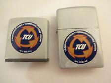 Vintage Zippo Ziplight & Tape Measure Transportation Communications Union TCU