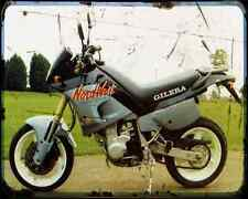 GILERA Nordwest 600 91 1 A4 Metal Sign moto antigua añejada De