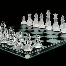 Jeux d'echecs en verre - Échiquier 25 x 25 centimetres 32 pieces