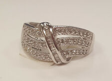 *New Low Price* 14k White Gold Pave Set Right Hand Fashion Diamond Ring