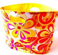 Clinique Tote Bag Floral Pink Yellow Travel Shopping Storage Beach Sz L 20X13X6