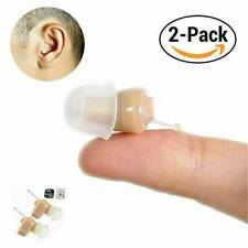 2x Mini in Ear Hearing Aid Invisible Digital CIC Sound Voice Amplifier Ear Aids