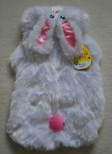 Eggcellent Easter Pets White Fluffy Furry Hooded Bunny Outfit Dog Costume Cloth