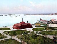 "1900 Battery Park , New York City, NY Vintage Photograph 8.5"" x 11"" Reprint"