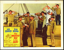 THE WACKIEST SHIP IN THE ARMY original 1960 lobby card RICKY NELSON/ALVY MOORE