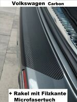Ladekantenschutz Folie VW Passat B8 Variant 2014 - 2019 Carbon Rakel + Tuch