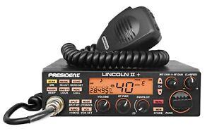 PRESIDENT LINCOLN II+ PLUS AM FM CW SSB 10/12m AMATEUR MOBILE RADIO EXPANDED