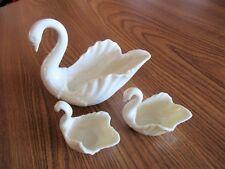 "Lenox, 3-Piece Cream Swan Form Porcelain Bowl Collection, 5"" and 2-1/2"", Euc"
