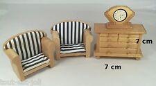 salon vintage en bois miniature,maison de poupée,vitrine, meuble  ** OCC1