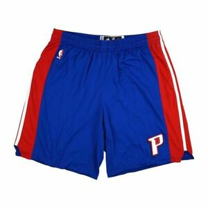 adidas Detroit Pistons NBA Blue Authentic On-Court Team Game Shorts for Men
