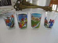 4 VERRES A MOUTARDE SÉRIGRAPHIES 1984 APOLLO 1975 LARRY 1988 2 PETIT OURS BRUN