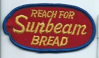 Sunbeam Bread 'reach for' employee/driver patch 2 X 3-7/8 cheesecloth back