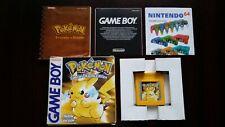 Pokemon Yellow Version Special Pikachu Edition (Nintendo Game Boy ) Eur Version