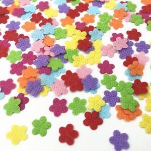 600pcs Felt Appliques Mixed Colors Flowers Cardmaking decoration Craft 12mm