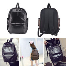 Men's Women Leather Backpack Travel Satchel Laptop Rucksack Shoulder School Bag