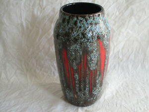 Alte Fat Lava Vase Scheurich ?? ca. 22 cm. 60er / 70er Jahre