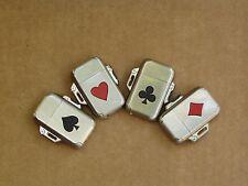 Set of 4 Lighters, Playing card series - Vintage, Camel, Butane