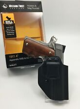 """Mission First Tactical Appendix IWB / OWB Ambi Kydex Holster for 1911 4"""" NO RAIL"""