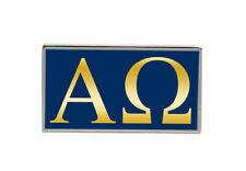 Alpha Omega Rectangle Pin Badge