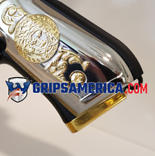 Grips America Beretta 92 magazine base metal with gold plated