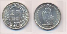 Schweiz  2 Fr. 1920 B  Silber   unzirkuliert/bankfrisch  so selten
