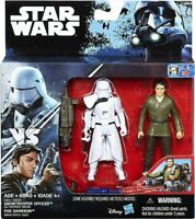 Star Wars First Order Stormtrooper Officer POE Dameron 2 Pack NEW Hasbro 3.75""